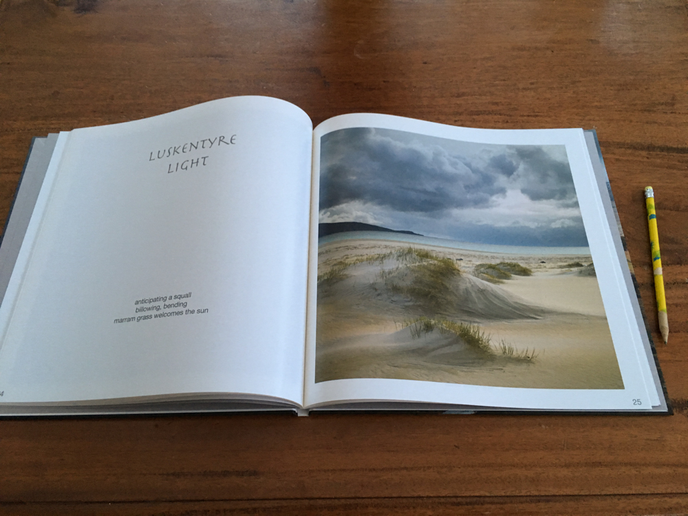A book of Isle of Harris created by workshop participants.