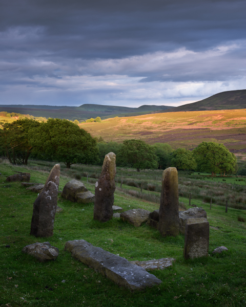 Standing Stones near Hawnby, North York Moors.